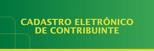 cadastro eletrônico de contribuintecadastro eletrônico de contribuinte.